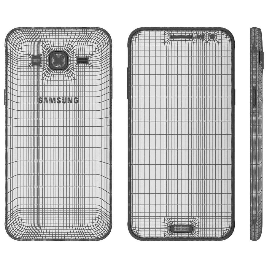 三星Galaxy J3 Gold royalty-free 3d model - Preview no. 17