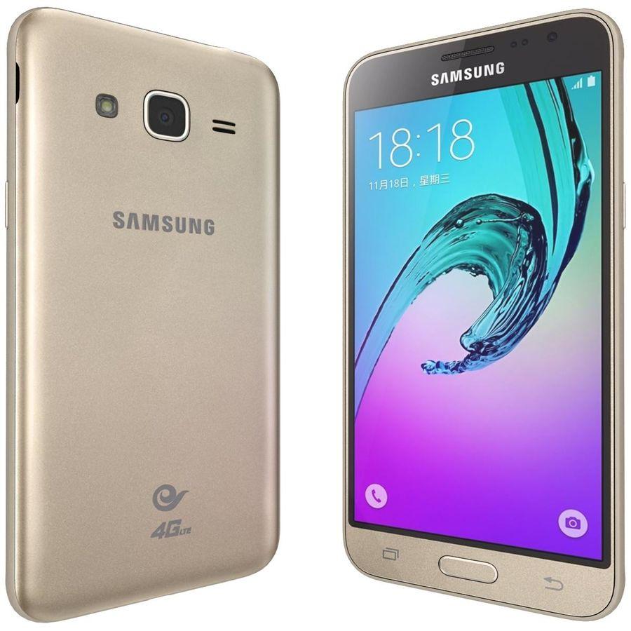 三星Galaxy J3 Gold royalty-free 3d model - Preview no. 4