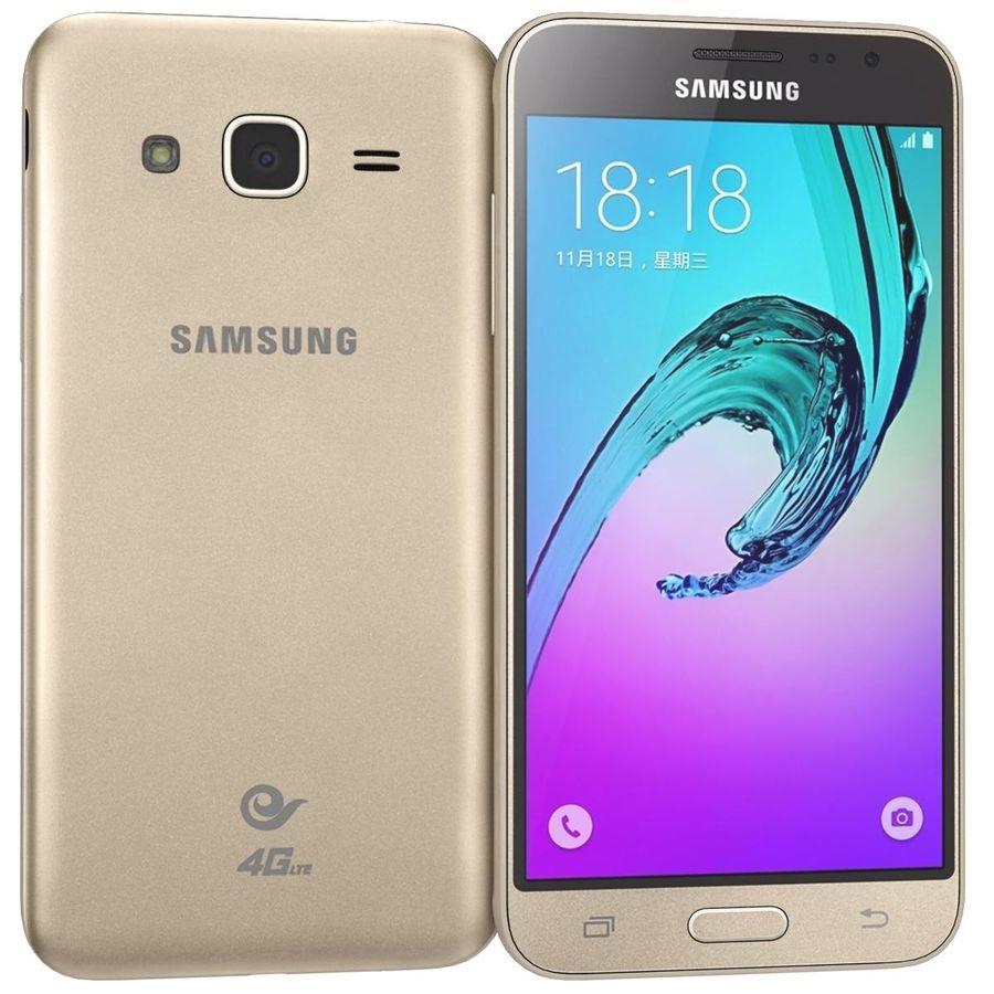 三星Galaxy J3 Gold royalty-free 3d model - Preview no. 1