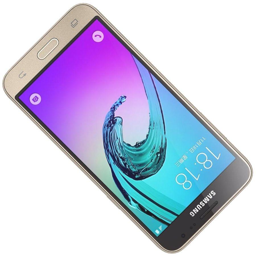 三星Galaxy J3 Gold royalty-free 3d model - Preview no. 20