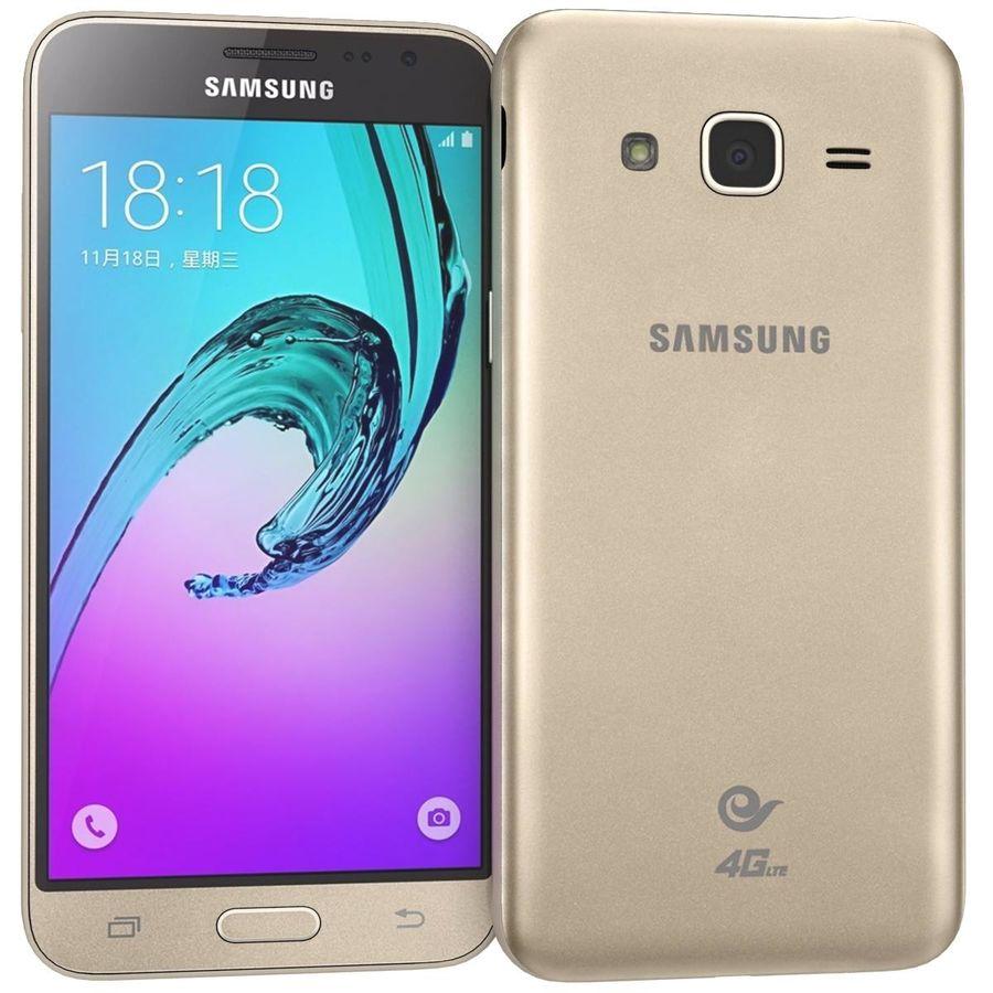 三星Galaxy J3 Gold royalty-free 3d model - Preview no. 2