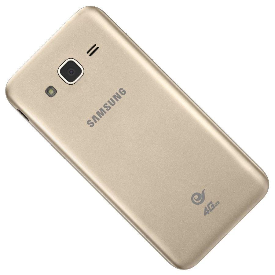 三星Galaxy J3 Gold royalty-free 3d model - Preview no. 32
