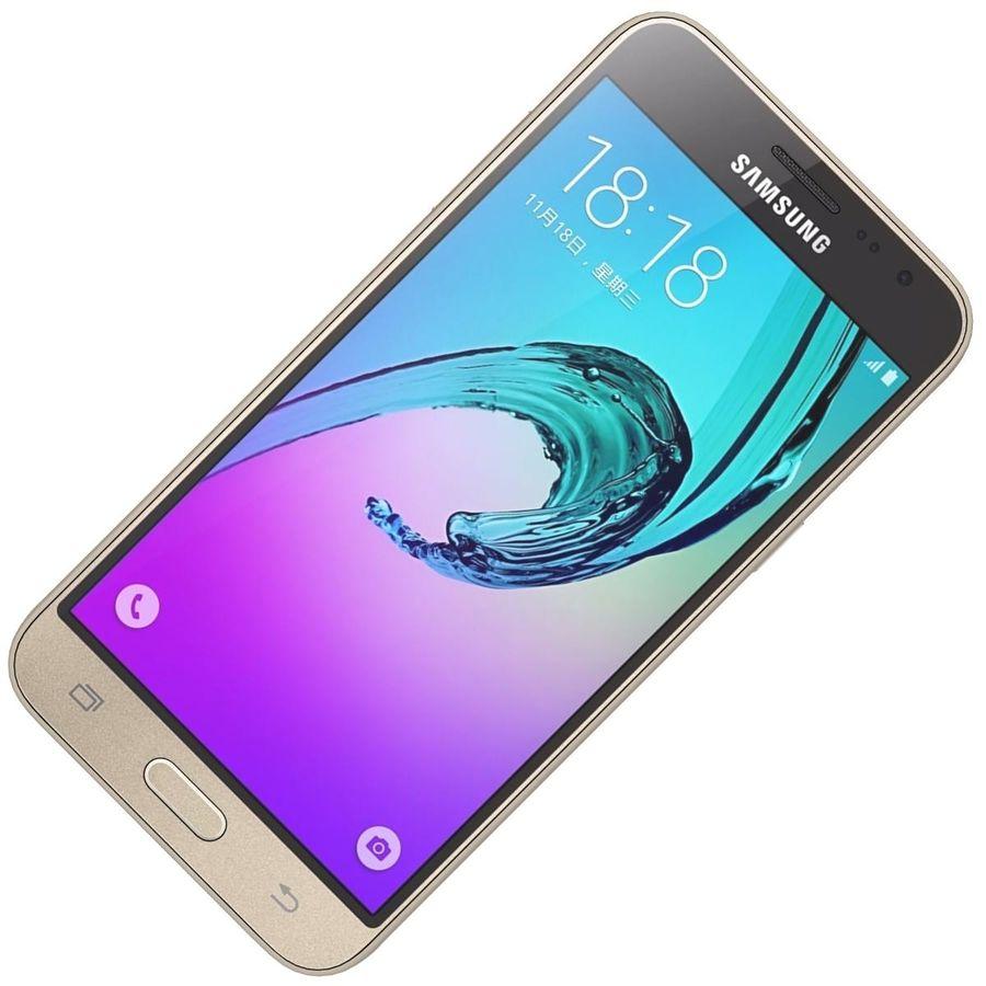 三星Galaxy J3 Gold royalty-free 3d model - Preview no. 18