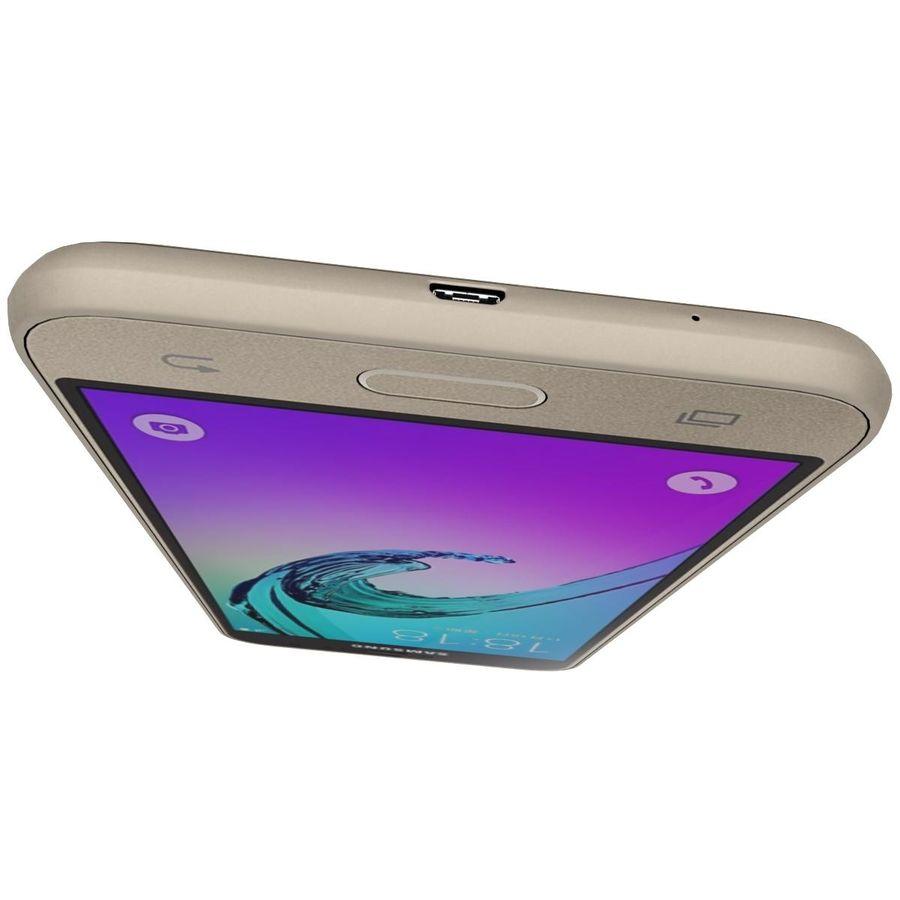 三星Galaxy J3 Gold royalty-free 3d model - Preview no. 14