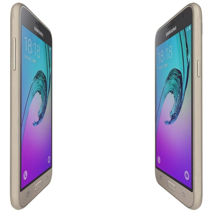 三星Galaxy J3 Gold royalty-free 3d model - Preview no. 9
