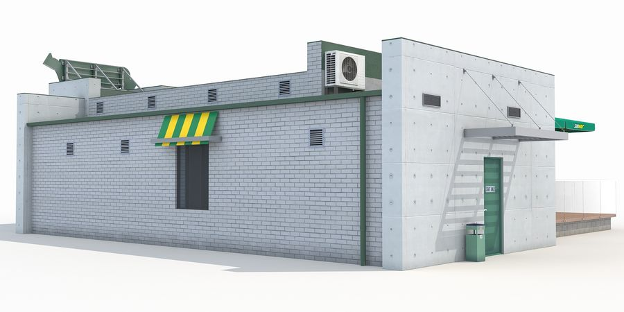Subway restaurant royalty-free 3d model - Preview no. 3