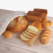Set de pain 3d model