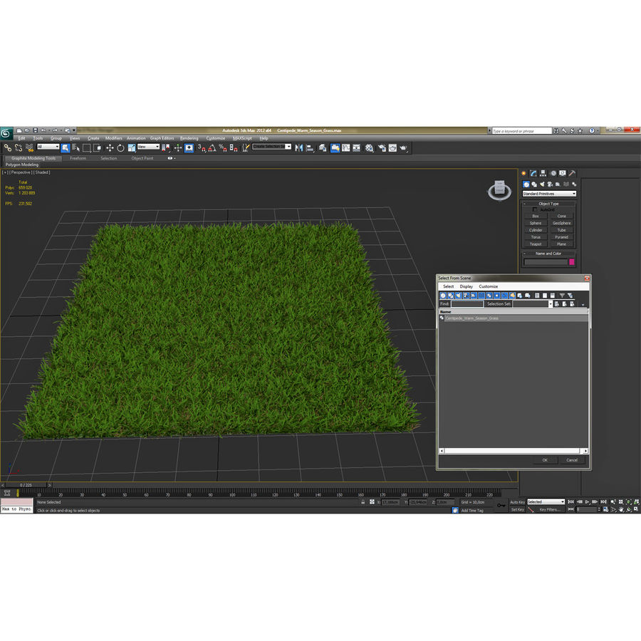 Duizendpoot Warm Season Grass royalty-free 3d model - Preview no. 21