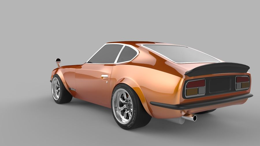 Datsun Fairlady 240z royalty-free 3d model - Preview no. 3