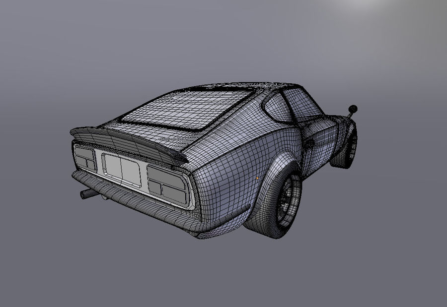 Datsun Fairlady 240z royalty-free 3d model - Preview no. 8