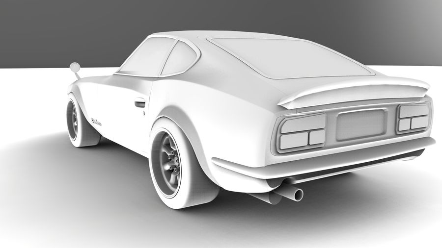 Datsun Fairlady 240z royalty-free 3d model - Preview no. 10