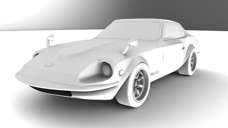 Datsun Fairlady 240z royalty-free 3d model - Preview no. 9