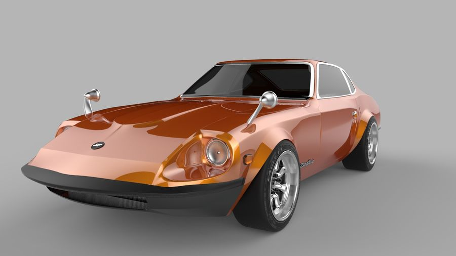 Datsun Fairlady 240z royalty-free 3d model - Preview no. 1