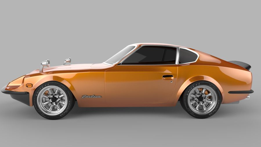 Datsun Fairlady 240z royalty-free 3d model - Preview no. 2