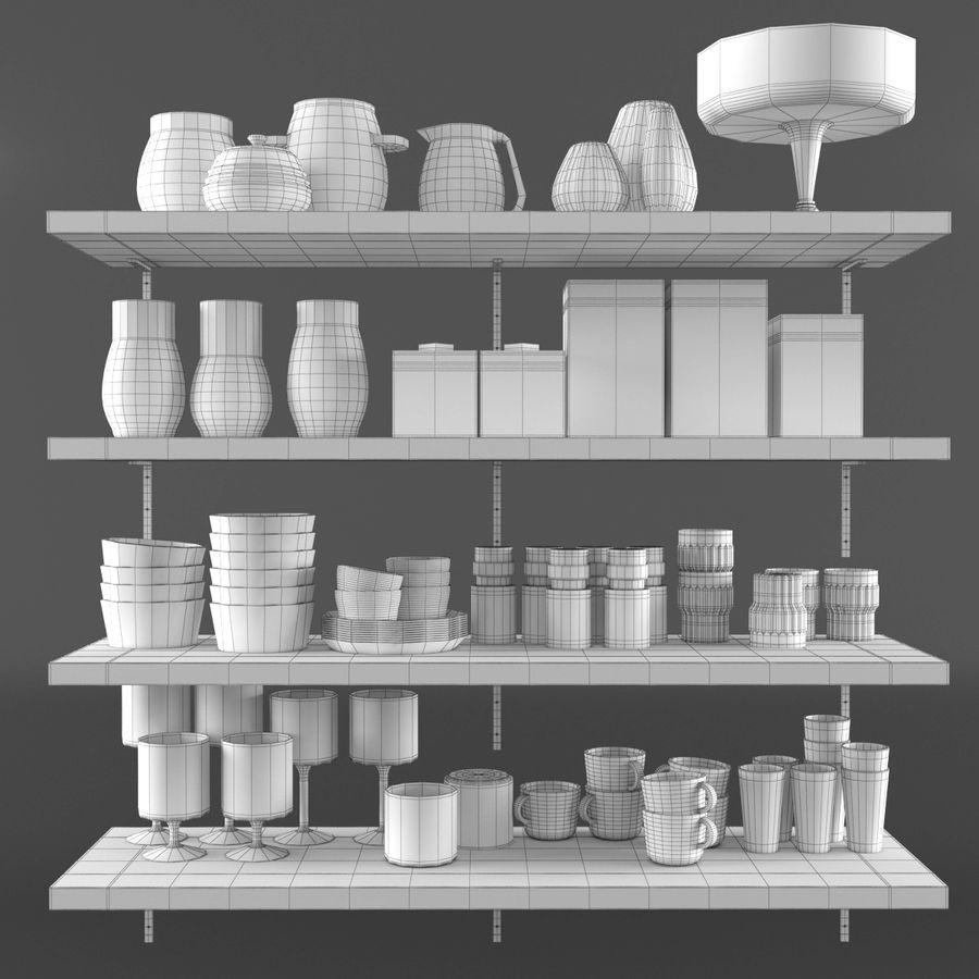 Kitchen Decorative Set 02 royalty-free 3d model - Preview no. 6
