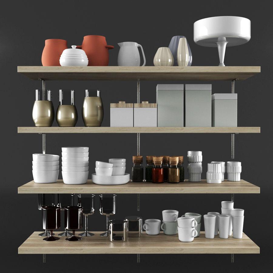 Kitchen Decorative Set 02 royalty-free 3d model - Preview no. 1