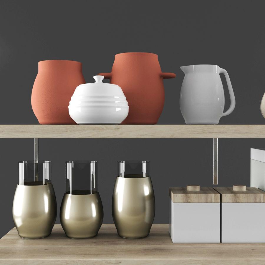 Kitchen Decorative Set 02 royalty-free 3d model - Preview no. 2