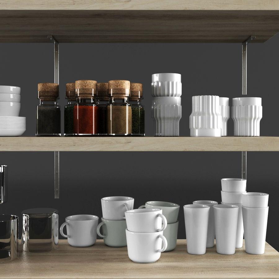 Kitchen Decorative Set 02 royalty-free 3d model - Preview no. 4