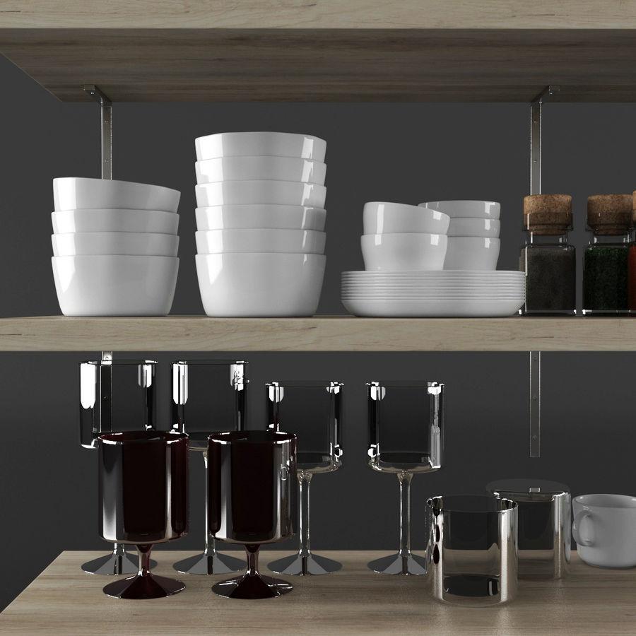 Kitchen Decorative Set 02 royalty-free 3d model - Preview no. 5