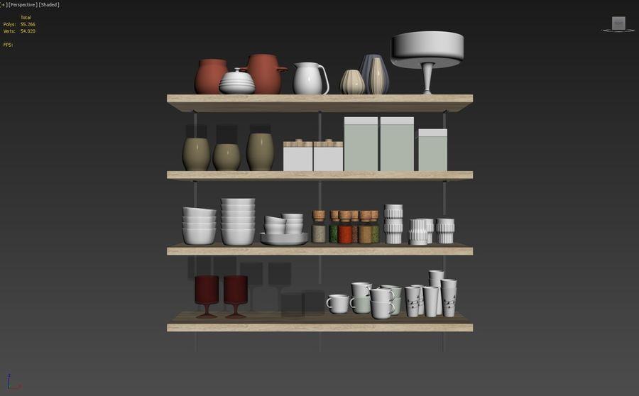 Kitchen Decorative Set 02 royalty-free 3d model - Preview no. 8