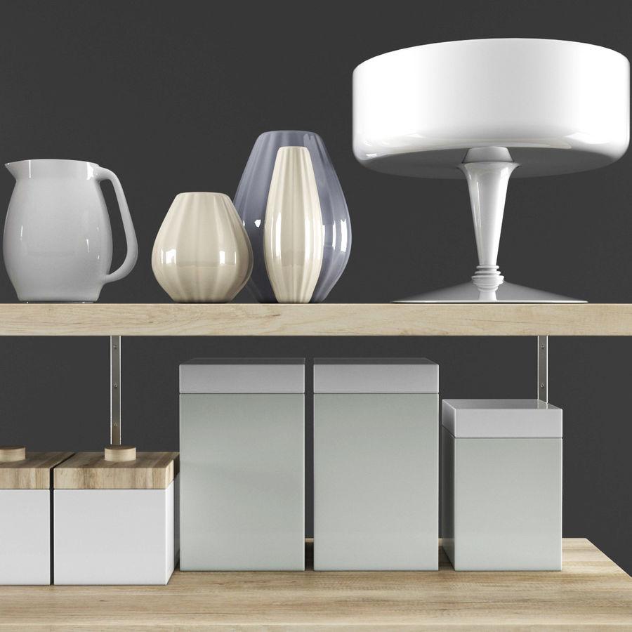 Kitchen Decorative Set 02 royalty-free 3d model - Preview no. 3