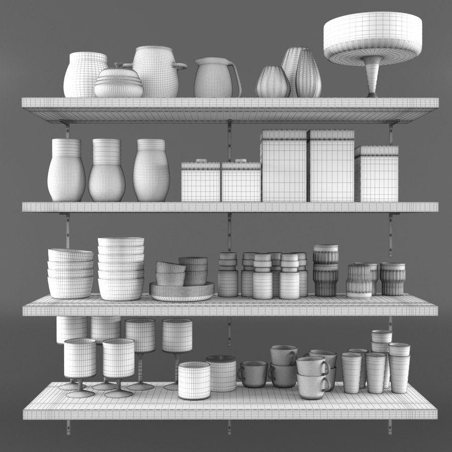 Kitchen Decorative Set 02 royalty-free 3d model - Preview no. 7