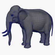 Elephant Base Mesh With UVs 3d model