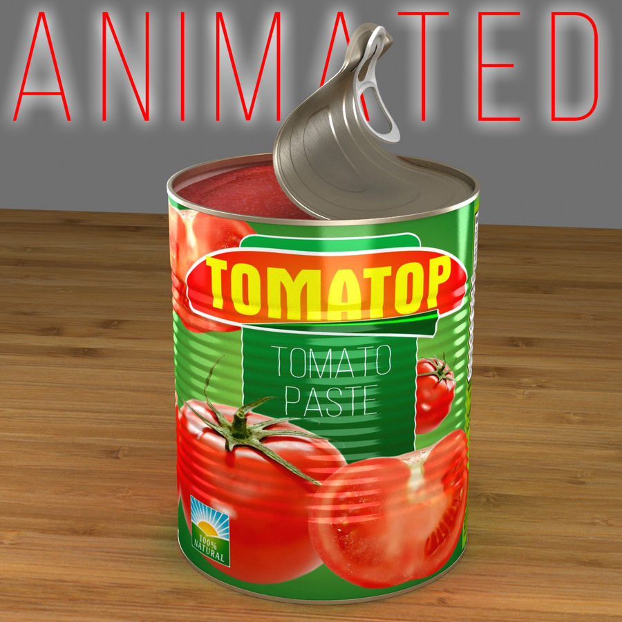 food can open royalty-free 3d model - Preview no. 1
