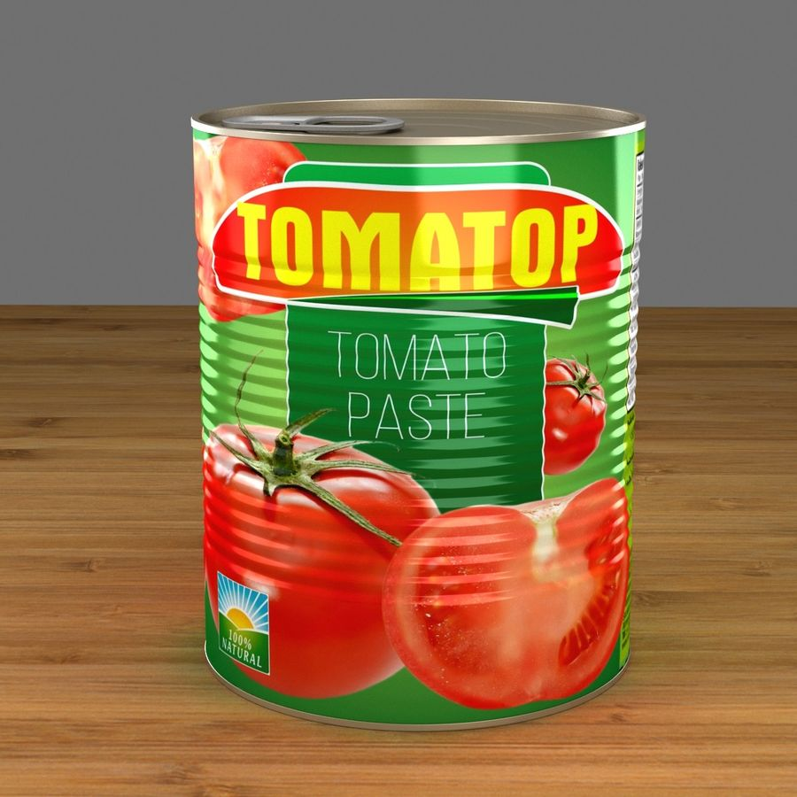 food can open royalty-free 3d model - Preview no. 2