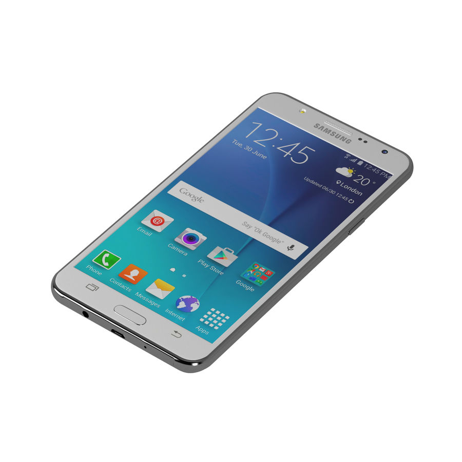 Samsung Galaxy J7 royalty-free 3d model - Preview no. 2