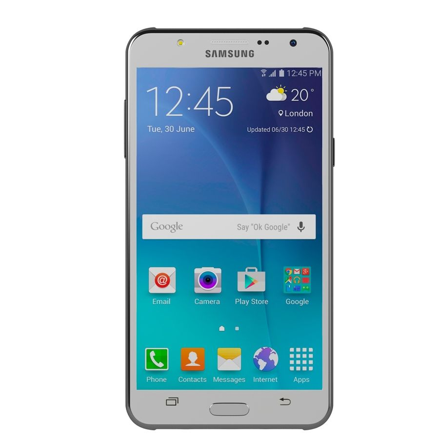 Samsung Galaxy J7 royalty-free 3d model - Preview no. 1