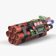 다이나마이트 폭탄 3d model