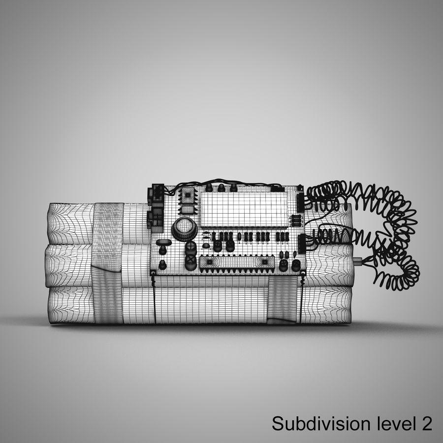 炸药炸弹 royalty-free 3d model - Preview no. 17