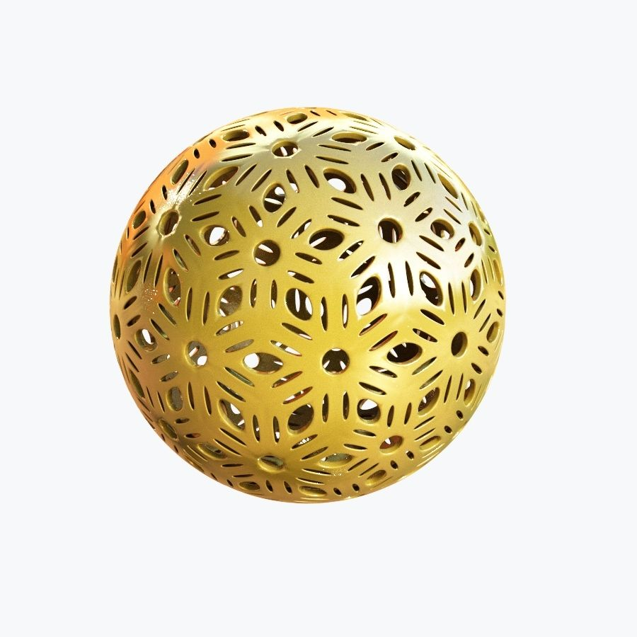 Christmas Ball 04 royalty-free 3d model - Preview no. 3