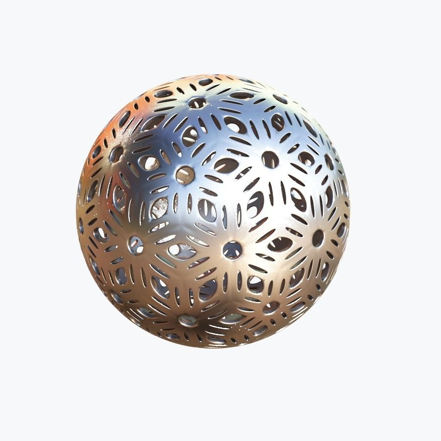 Christmas Ball 04 royalty-free 3d model - Preview no. 2
