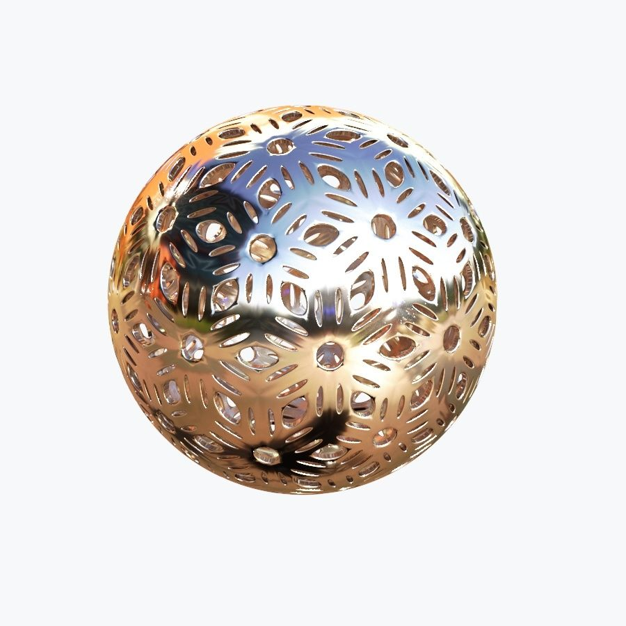 Christmas Ball 04 royalty-free 3d model - Preview no. 5