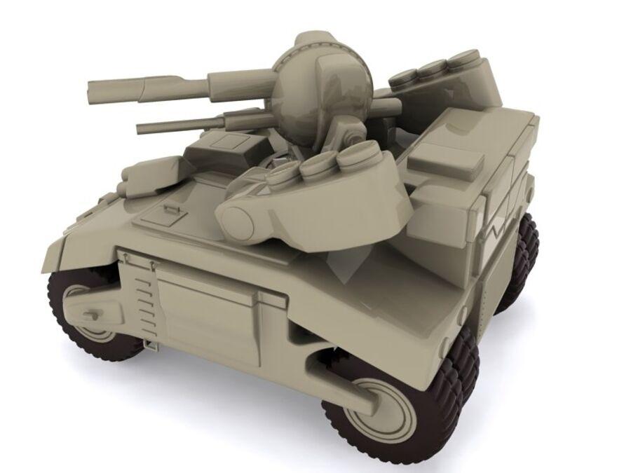 Mega Panzer royalty-free 3d model - Preview no. 3