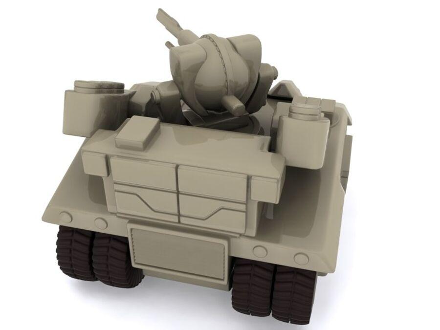 Mega Panzer royalty-free 3d model - Preview no. 4