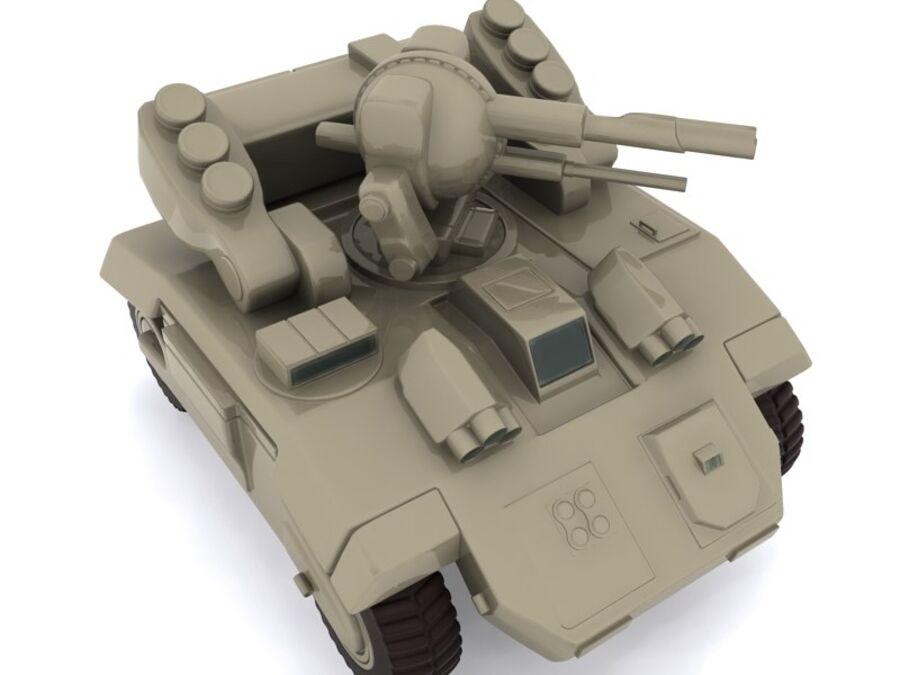 Mega Panzer royalty-free 3d model - Preview no. 6