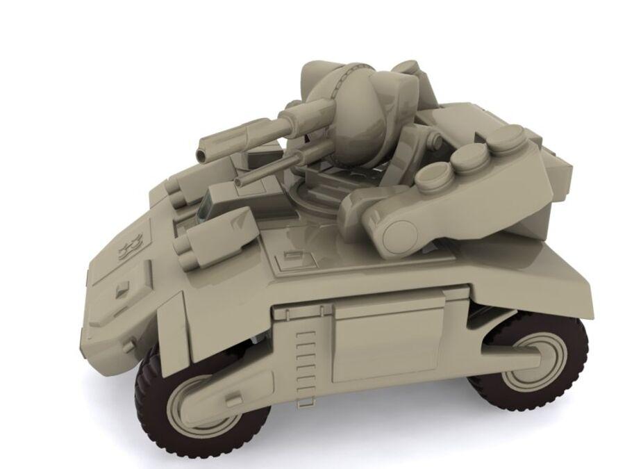 Mega Panzer royalty-free 3d model - Preview no. 2