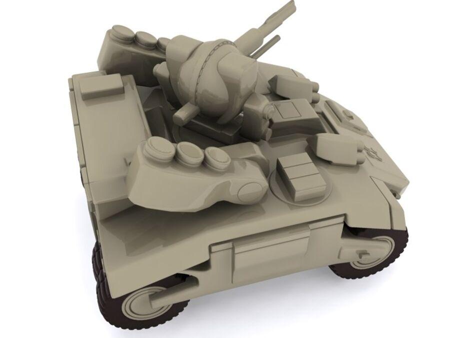 Mega Panzer royalty-free 3d model - Preview no. 5