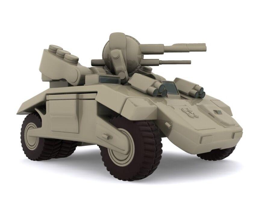 Mega Panzer royalty-free 3d model - Preview no. 7