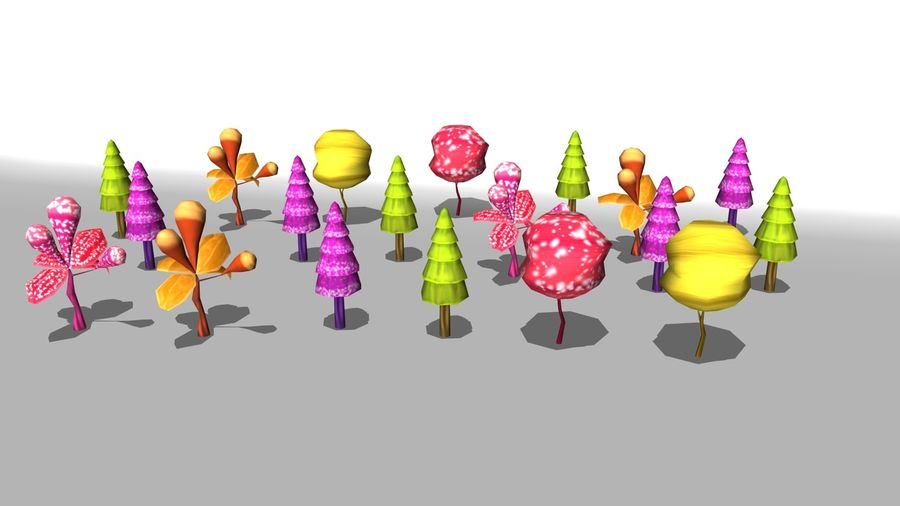 卡通树低聚 royalty-free 3d model - Preview no. 1