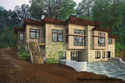 Деревянный домик у озера 3d model