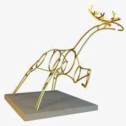 Statue of deer 3d model