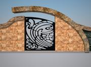 Staketfönster \ Gate Designe 3d model