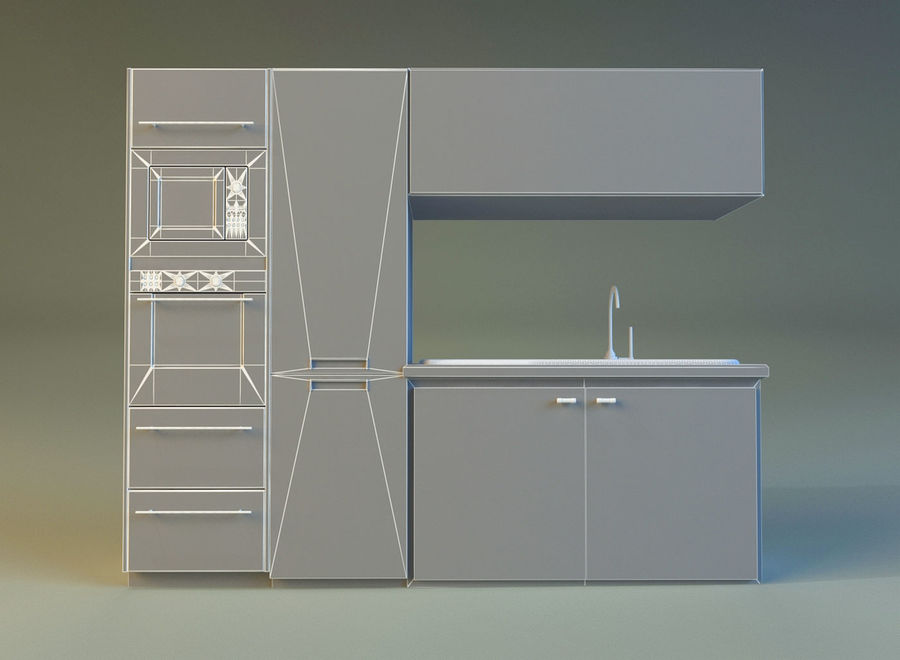 Kitchen 3 royalty-free 3d model - Preview no. 16