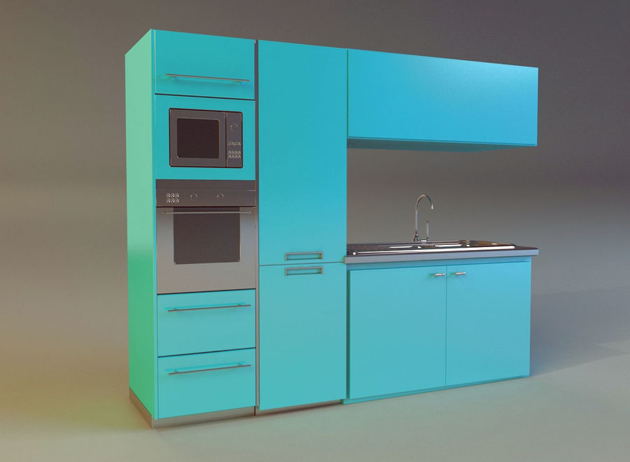 Kitchen 3 royalty-free 3d model - Preview no. 2