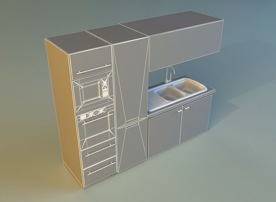 Kitchen 3 royalty-free 3d model - Preview no. 15