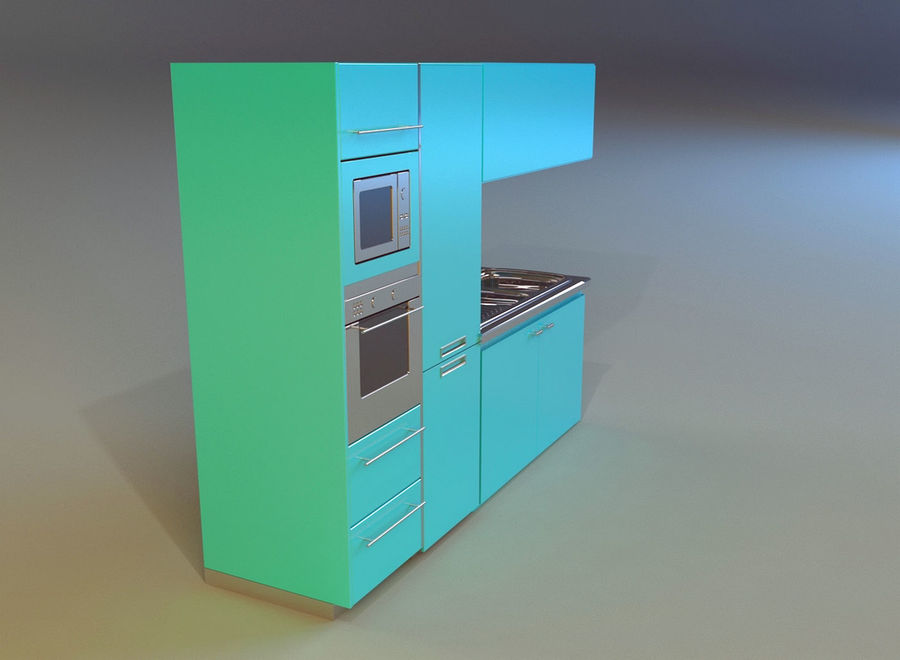Kitchen 3 royalty-free 3d model - Preview no. 5
